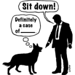 Cartoon,-dog---lordling--Sit-down